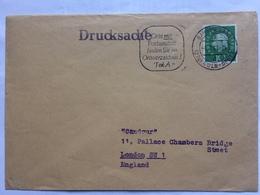 GERMANY 1961 Cover With Koln Bahnpost Mark, Drucksache Cachet To Candour - League Of Empire Loyalists London - [7] République Fédérale