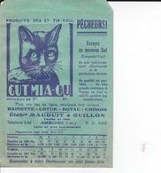PIE.DOCS-DH.GF19-214 : POCHETTE PAPIER PUBLICITE  ETS MAUDUIT GUILLON AMBOISE. PECHE A LA LIGNE. CHAT GUT MIA-OU - Francia