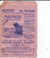 PIE.DOCS-DH.GF19-215 : POCHETTE PAPIER PUBLICITE  ETS MAUDUIT GUILLON AMBOISE. PECHE A LA LIGNE. GRENOUILE RAINETTE - Francia