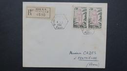 Lettre Recommandé Algerie Mai 1962 Obliteration  Sidi-Salem SAS ( Bône ) Pour Le SP 86520 - Algérie (1924-1962)