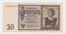 Billet De 20 Reischmark Pick 185  Du 16_6_1939 - [ 3] 1918-1933 : République De Weimar