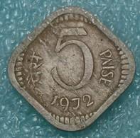 India 5 Paise, 1972 W/o Mintmark - Calcutta 1268 - Inde