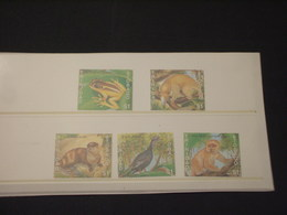 TRINIDAD T. - 1989 ANIMALI 5 VALORI - NUOVI(++) - Trindad & Tobago (1962-...)
