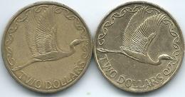 New Zealand - Elizabeth II - 2 Dollars - 1998 (KM79) & 2002 (KM121) - Security Edge - Nieuw-Zeeland