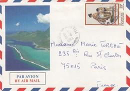 POLYNESIE FRANCAISE - LETTRE PAR AVION 21.6.1985 POUR PARIS   /2 - French Polynesia