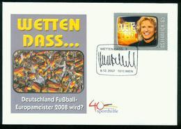 FD Austria FDC 2007 MiNr 2695   Thomas Gottschalk And 'Wetten Dass?' (TV Presenter And Game Show) - FDC