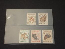LAOS - P.A. 1965 ANIMALI  5 VALORI - NUOVI(++) - Laos