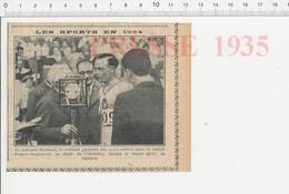 Presse 1935 Rochard (Roger) Athltétisme Stade De Colombes En 1934 Course à Pied 5000 Mètres M 226V - Unclassified