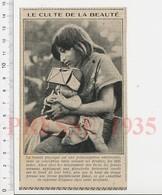 Presse 1935 Femme Inca Maman Et Son Bébé Tradition Planchette Sur Le Front Incas  226V - Unclassified