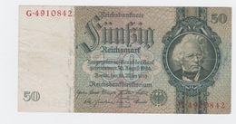 Billet De 50 Reischmark Pick 182  Du 30_3_1933 - [ 3] 1918-1933: Weimarrepubliek