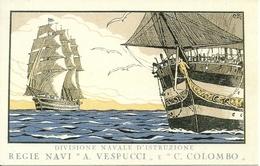 """Divisione Navale D'Istruzione, Regie Navi """"A. Vespucci E C. Colombo"""", Riproduzione A01, Reproduction - Velieri"""