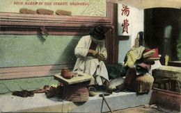 China, SHANGHAI, Native Shoe Maker In The Street (1910s) Postcard - China