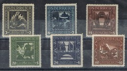 Serie Completa AUSTRIA, Nibelungos, Obras Infancia 1926, Yvert 368-373 ** - Unused Stamps
