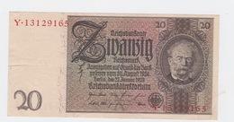 Billet De 20 Reischmark Pick 181  Du 22_1_1929 - [ 3] 1918-1933: Weimarrepubliek