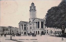 Singapour - Singapore - Victoria Théâtre & Mémorial Hall - Edit. R. Tuck N° 893 - Singapore
