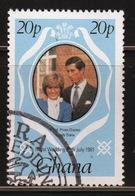 Ghana 1981 Single 20p Stamp From The Royal Wedding Set. - Ghana (1957-...)