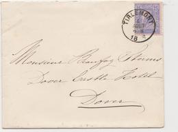 Tienen, Thienen, Tirlemont, Kasteel Oorbeek, Van Tienen Naar Dover Enveloppe Voor John Beaufoy Storms, 1886! - Unclassified