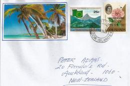 View Of Avarua, Rarotonga . Cook Islands, Letter Rarotonga , Sent To New-Zealand - Cook Islands