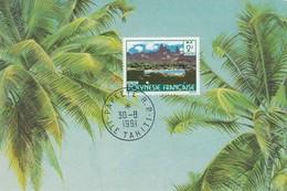 POLYNESIE FRANCAISE - CP PAPEETE ILE TAHITI 30.8.1991   /2 - Lettres & Documents