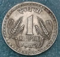 India 1 Rupee, 1982 -4065 - Inde