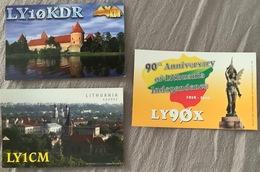 4 X Qsl Card Litauen Lithuania, In Fine Condition - Amateurfunk