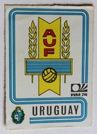 Vignette Autocollante Figurine Panini München 74 Coupe Du Monde De Football 1974 Uruguay N°215 World Cup - Panini