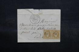 FRANCE - Lettre De Aix En Othe Pour Levallois Perret En 1870 , Affranchissement Napoléon En Paire, GC 40 - L 32600 - 1849-1876: Période Classique