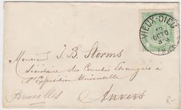 Tienen, Thienen, Tirlemont, Kasteel Oorbeek, Van Vieux Dieux, Oude God Enveloppe VoorJohn Beaufoy Storms, 1884 - Non Classés