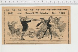 2 Scans Humour Carte De Charbon Chauffage Musique ?? Style Jazz-band ?? Trombonne Trompette Train Chaussures Ferrées226X - Unclassified
