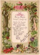 Charleroi,menu Ste Barbe 1895. - Menu