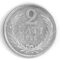 LETTONIE - LATVIA - 2 LATI 1926 - ARGENT - SILVER - Lettonie