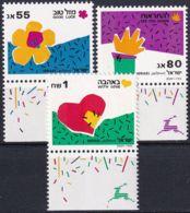 ISRAEL 1990 Mi-Nr. 1164/66 ** MNH - Ungebraucht (mit Tabs)