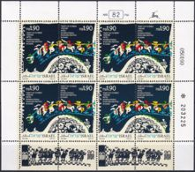 ISRAEL 1990 Mi-Nr. 1160/61 Kleinbogen ** MNH - Blokken & Velletjes