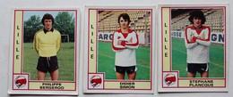 3 Vignette Autocollante Figurine Panini Football 80 équipe De Lille Philippe Bergeroo Stéphane Plancque Didier Simon - Panini
