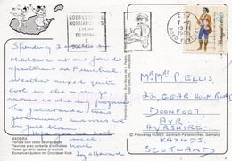 1998 Portugal Postcard Madeira Funchal Posted  To UK Slogan - Storia Postale