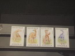 ANGOLA - 1998 DINOSAURI 4 VALORI - NUOVI(++) - Angola
