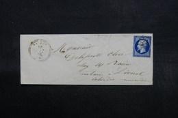 FRANCE - Enveloppe De Paramé Pour Livarot En 1856 , Affranchissement Napoléon - L 32603 - 1849-1876: Période Classique