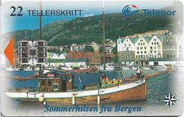 Norway - Telenor - Bergen - N-125C (Cn. C86025019) 06.1998, 10.100ex, Used - Norway