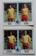 2 Vignette Autocollante Figurine Panini Football 80 équipe De Toulouse Daniel Lacroix Andre Tota Jean Diaz Léon Maier - Panini