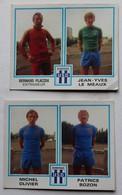 2 Vignette Autocollante Figurine Panini Football 80 équipe De Dunkerque Bernard Placek Le Meaux Michel Olivier Bozon - Panini