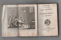 1819 - HISTOIRE DU CHEVALIER DES GRIEUX ET DE MANON LESCAUT PAR L'ABBE PREVOST - A PARIS CHEZ LEDOUX ET TENRE LIBRAIRES - Livres, BD, Revues