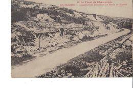 LE FRONT DE CHAMPAGNE BEAUSEJOUR ORGANISATION FRANÇAISES AU RAVIN DE MARSON - Guerra 1914-18