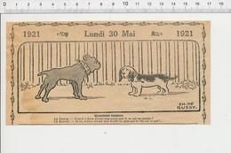 2 Scans Humour Canin Chien Dogue ( Bouledogue ) Et Basset Accident Voiture Vieux Tacot 226X - Unclassified