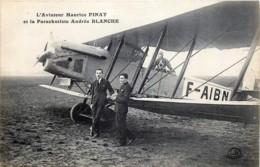 L' Aviateur Maurice PINAT Et La Parachutiste Andrée BLANCHE - Airmen, Fliers