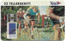 Norway - Telenor - Wolrd Cycling Champ. - (Cn. C37142053) - 01.1993, 9.000ex, Used - Noorwegen