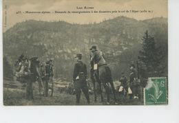 MANOEUVRES ALPINES - Demande De Renseignements à Des Douaniers Près Le Col De L'Alpet (chasseurs Alpins ) - Autres Communes