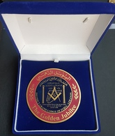 Lebanon Very Beautiful And Impressive Medal In Its Original Box - Golden Jubilee GRAND LODGE Syria Lebanon - Tokens & Medals