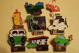 Lot De 8 Pin's ** J'aime SHELL **Automobile, Station Service, Voiture, Carburant - Fuels