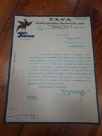 1932 MILANO CARTA INTESTATA DITTA TANA - LAVORAZIONE CERA - PUBBLICITA' - Italië