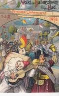 Volks Und Hallenschwimbad Närrischer Jahrmarkt 1908 Stempel Würzburg - Wuerzburg